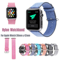 Casual Style Luxury For Apple Watch Band Colorful Nylon iWatch Strap 38mm 42mm Watchband With Adapter