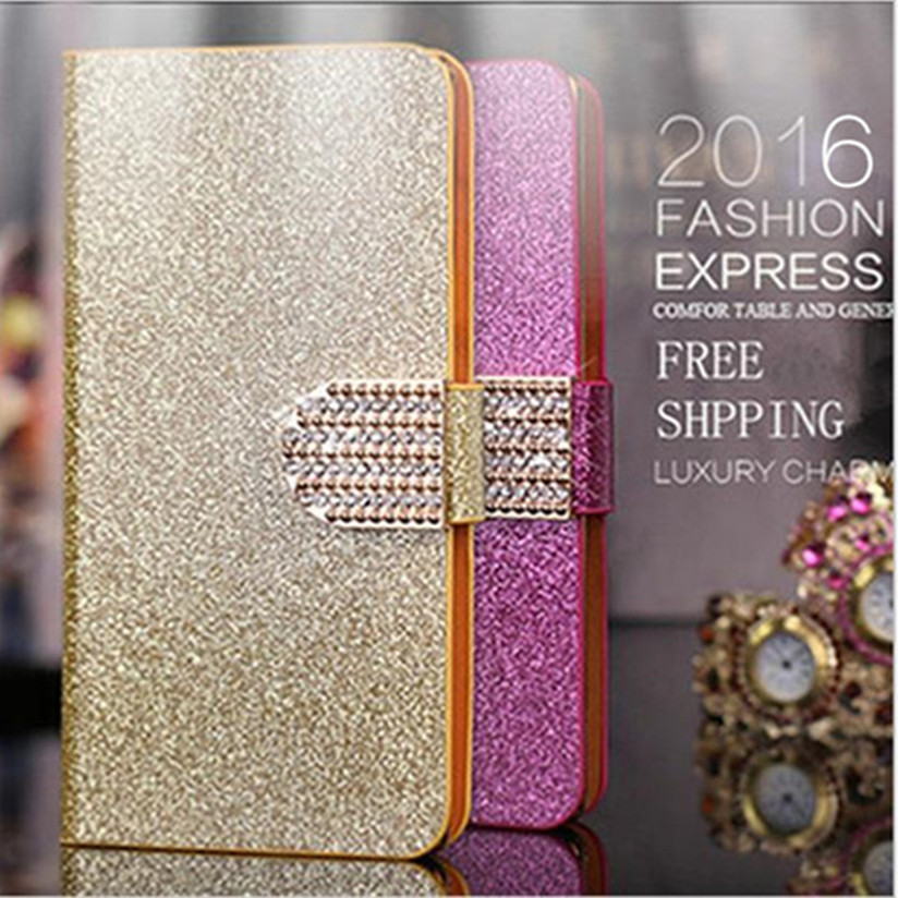 Luxury Glitter Rhinestone font b Phone b font Case For LG Optimus L9 II L9II D605