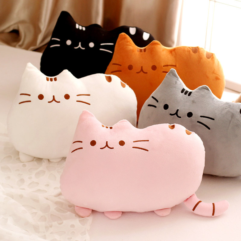 Soft Plush Toys Stuffed Sleeping Pillow Animal Toy Pusheen Cat For Kids Children Cute Cushion(China (Mainland))
