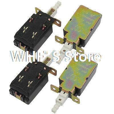 AC 250V 8A/128A DPST Self Locking Solder PCB Pushbutton Power Switch 4 Pcs(China (Mainland))