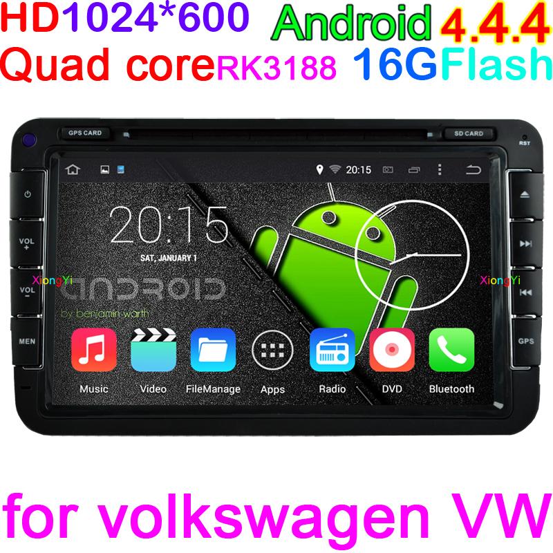 product Quad Core HD 1024*600 Android 4.4.4 PC Car DVD GPS For VW Golf Passat MK5/6 Polo Jetta Tiguan Caddy Skoda Fabia Octavia Seat