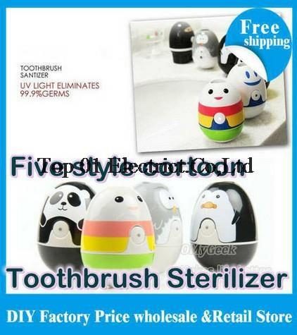 Free shipping 12pcs/lot UV Toothbrush Sterilizer Health Germicidal cute rainbow panda ninja penguin owl Toothbrush Holder(China (Mainland))