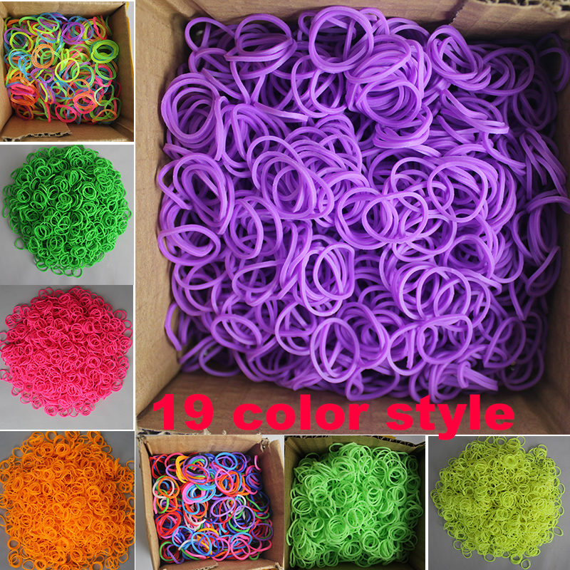 loom bands elastic 29 color Kits DIY looming Rubber Bands kids baby Handmade chain Rubber Band Bracelet bangle about 600p opp(China (Mainland))