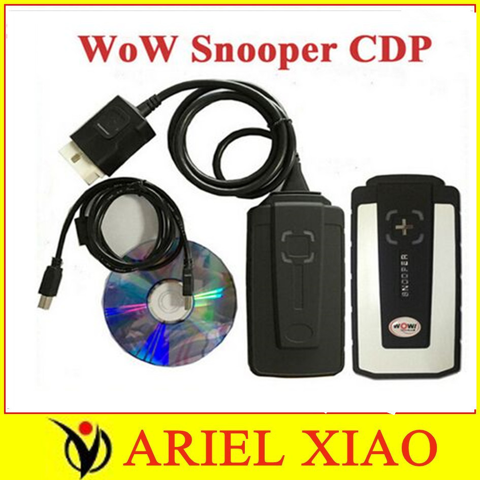 2016 Newest good items For Car Truck WoW Snooper CDP V5.008 software obd2 scan Diagnostic tool TCS CDP Strong And Stable no bt(China (Mainland))