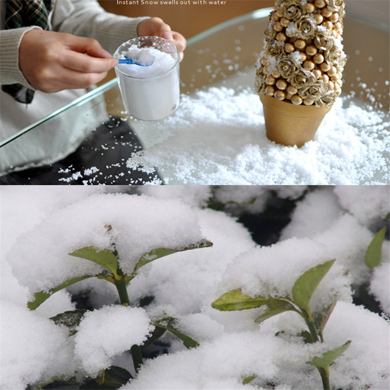3Pcs/lot Hot sale DIY Instant Snow Man-Made Magic Artificial Snow Powder Christmas Decoration(China (Mainland))