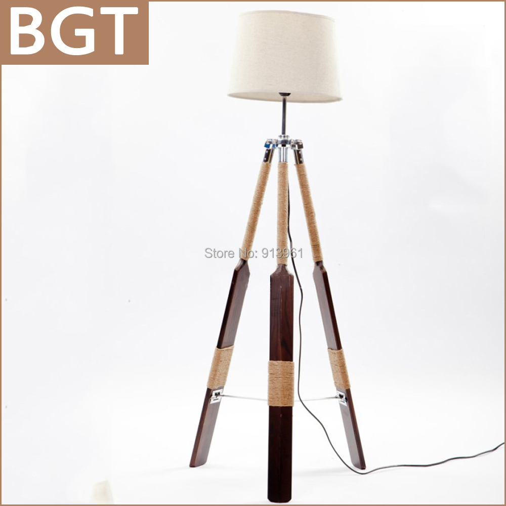 Newest retro tripod floor lamp wood ikea standard lamp for living and bed room with white - Wooden floor lamps ikea ...