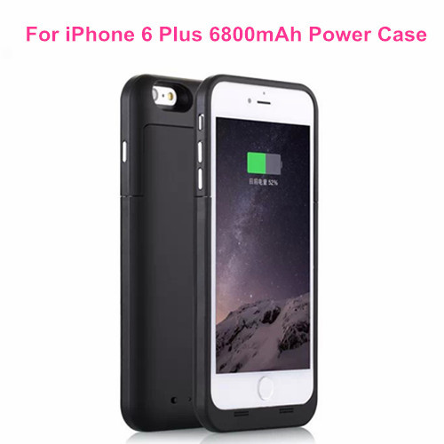High Capacity For Iphone 6 Plus 6800mAh External Backup Battery Moblie Charger Portable Power Bank Case Cover for iPhone 6 Plus(China (Mainland))
