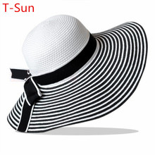 Caps Women Beanies Headgear Headdress Female Summer Ladies Wide Brim Beach Hats Large Floppy Sun Cap(China (Mainland))