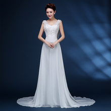 Buy 9054 Corset lace 2017 Lace Ivory White Sequins beads Crystal Wedding Dresses brides plus size maxi formal size 2-26W sash for $64.79 in AliExpress store