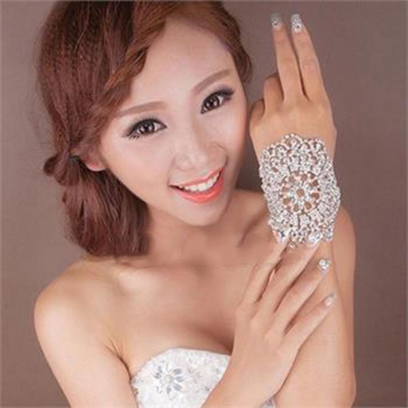 LOVIW Bridal Rhinestone Crystal Arm Bracelet Armband Women Wedding Jewelry women bangles New Hots(China (Mainland))