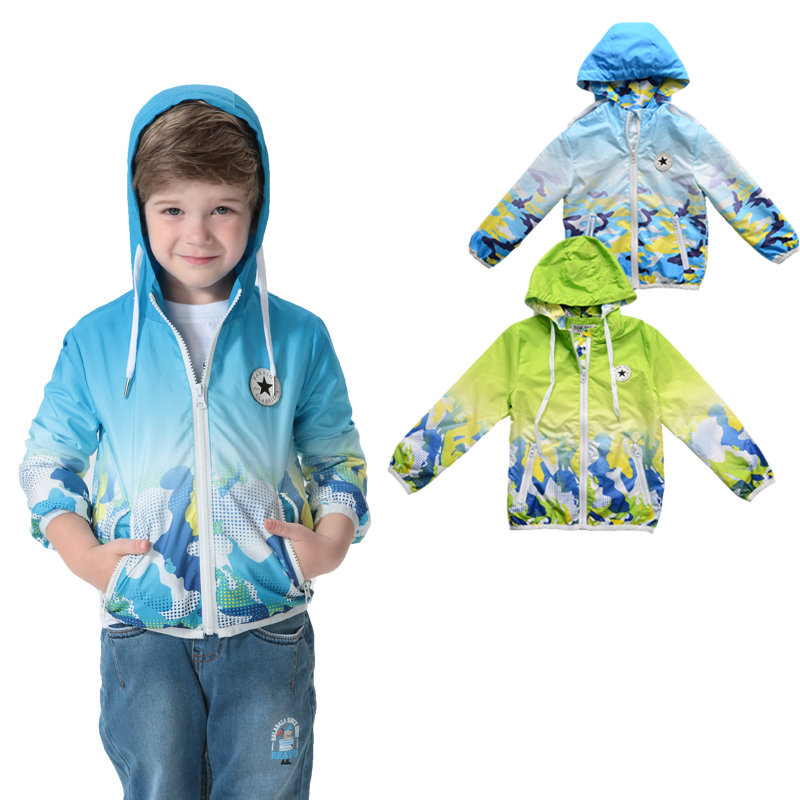 BRAND 2015 spring jackets coats kids boys jacket girl printed hoody tops kids outerwear girls spring