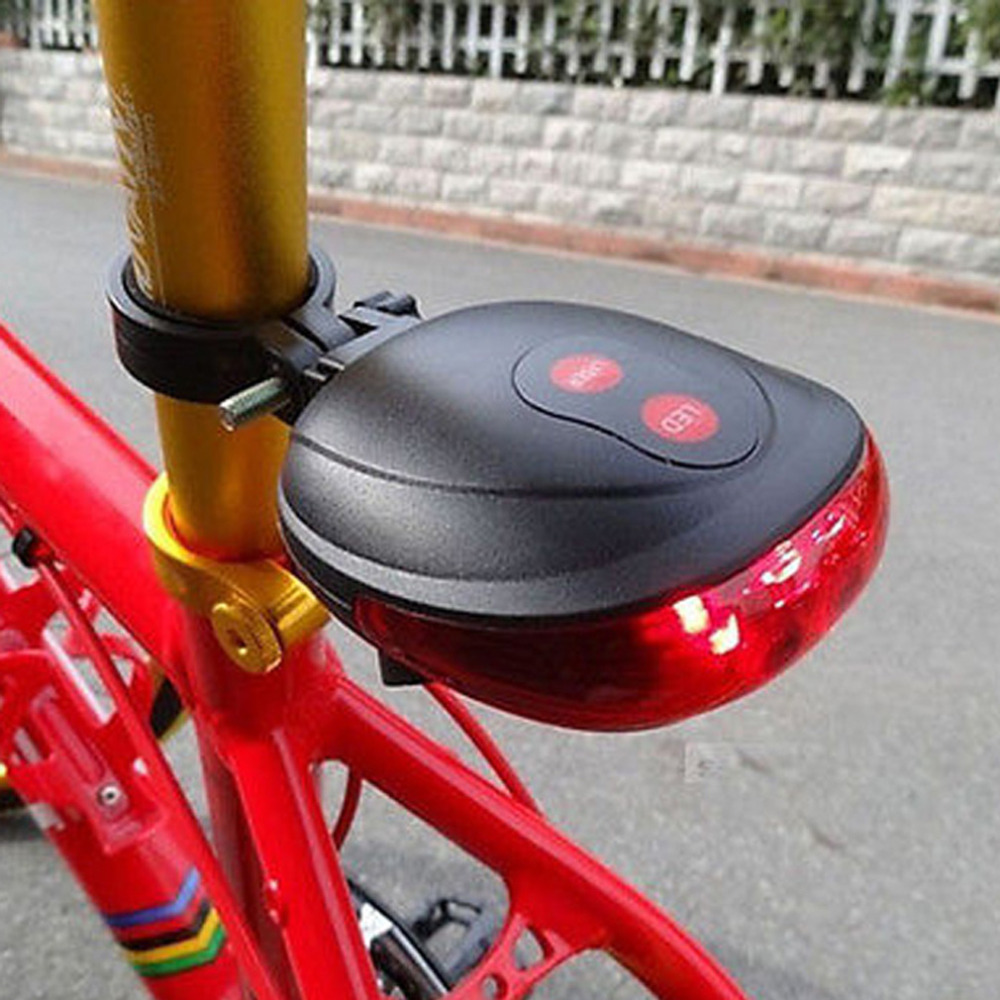 High Quality 5 LED 2 Laser Bike light 7 Flash Mode Cycling Safety Bicycle Rear Lamp waterproof Laser Tail Warning Lamp Flashing(China (Mainland))