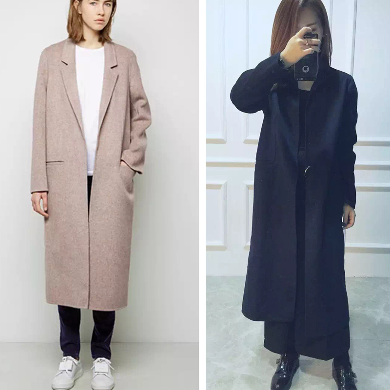 Women Windbreaker Wool BLEND Slim Long Coat Jacket Trench Parka Outwear free shipping