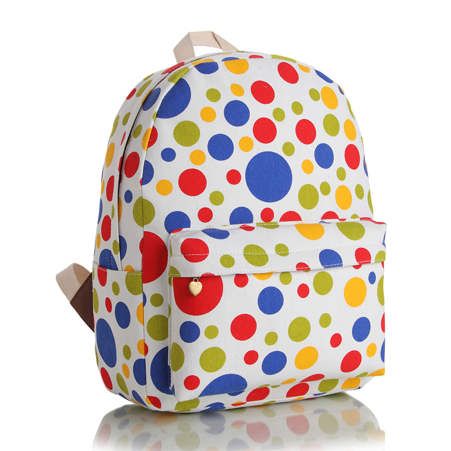 Hot style Polka Dot Backpack Daily Leisure Fashion Female Canvas Bag <br><br>Aliexpress