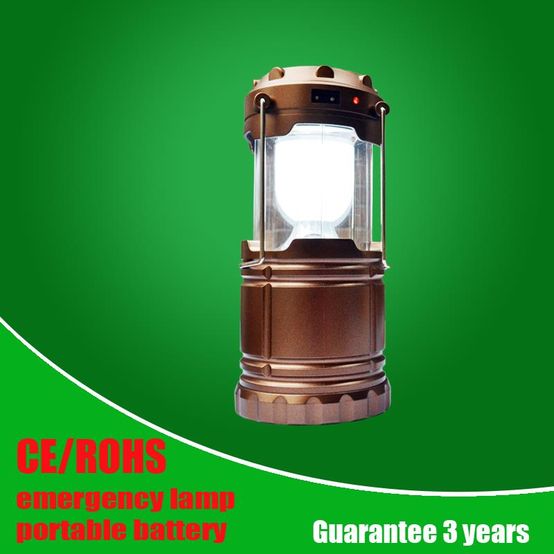 Solar LED Camping Light Rechargeable with USB Output for Phone, UltraBright 6 LED Portable Lantern Lamp in Outdoor Lighting<br><br>Aliexpress