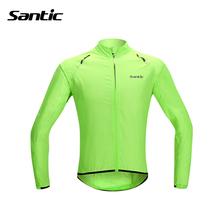 Buy Santic Cycling Jersey Waterproof Cycling Clothing Reflective Bike Rain Jacket Bike Maillot Bicycle Coat Raincoat Skinsuit MTB 30 for $23.52 in AliExpress store