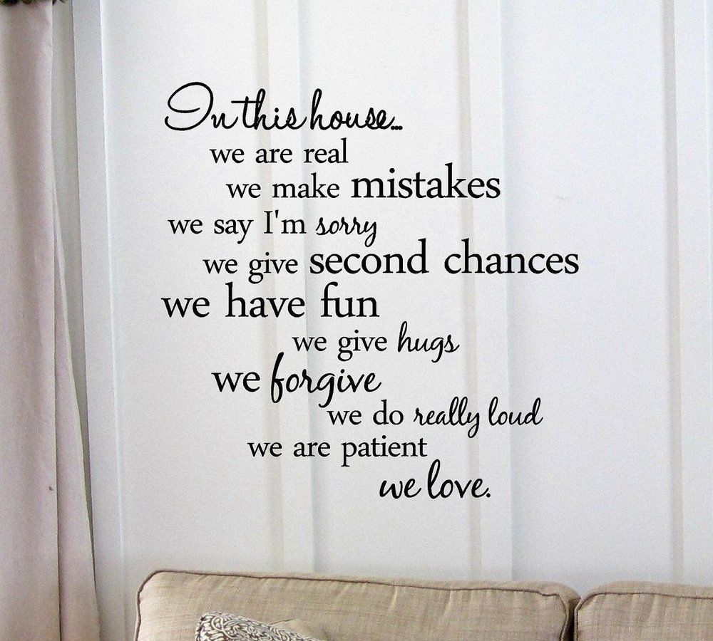 In this house... we are patient we love. Vinyl wall art Inspirational quotes and saying home decor decal sticker(China (Mainland))