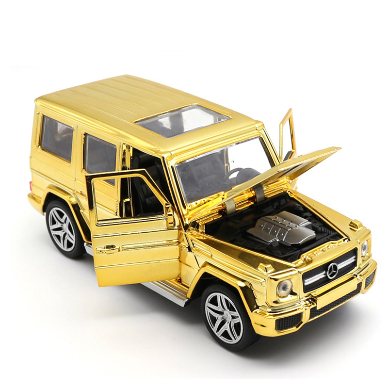 1:32 G65 SUV Off-road Vehicles Car-styling Car Models Plating Toy Machines Pull Back Light Diecasts `Metal Toys For Children(China (Mainland))
