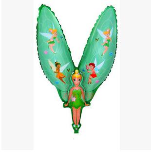 1 шт. 70 x 95 см цельный цветок фея тинкер белл алюминиевые баллоны алюминиевой фольги воздушный шар свадьба день рождения ну вечеринку воздушные шары