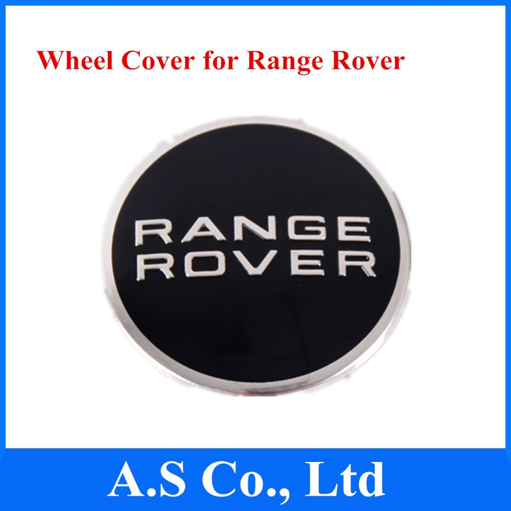 New 64mm Wheel Center Caps Cover Badge Emblem for Range Rover Black Color 4 Pcs/lot Free Shipping(China (Mainland))