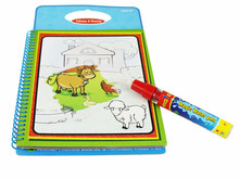10 pcs New arrives Magic Kids Water Drawing Book with 1 Magic Pen / Intimate Coloring Book Water Painting Board(China (Mainland))