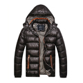 2016 New Men s Winter Jacket Fashion Warm Coat Thick Hooded Thermal Down Cotton Parkas Male