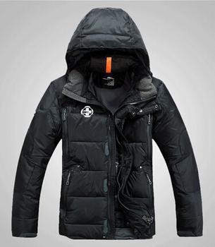 Rlx зима экстрим холодная на открытом воздухе спорт мужчины 90% утиный пух куртка поло человек утолщение вниз верхняя одежда вилочная часть вниз пальто