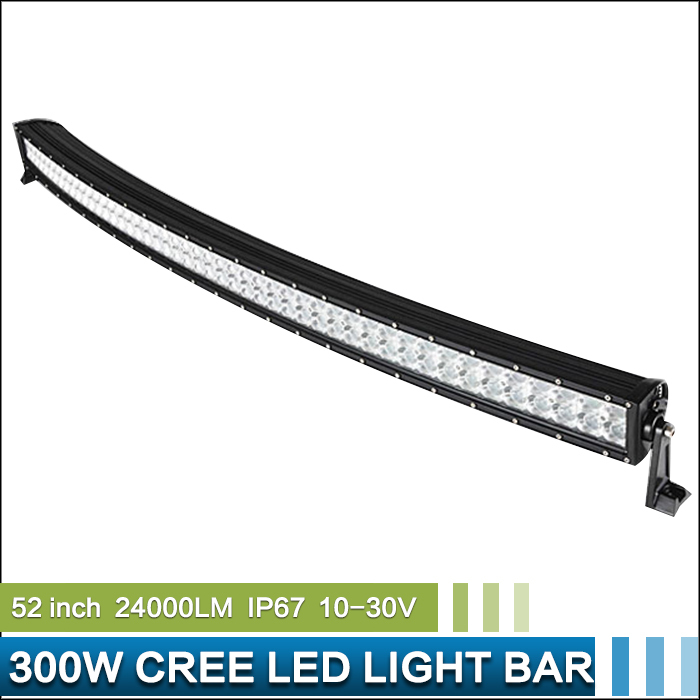 52'' 300W LED Offroad Curving Bowed Light Bar LED Work Light Spot Flood Combo for JEEP Truck SUV Tractor Boat 4WD(China (Mainland))