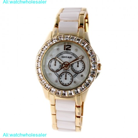 FW830Z New Water Resist White Dial Women Ceramic Water Resistant  Bracelet Watch