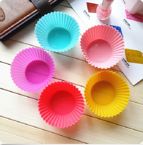 Гаджет  Free Shipping 12pcs Soft Silicone Round Cake Muffin Chocolate Cupcake Liner Baking Cup Mold None Дом и Сад