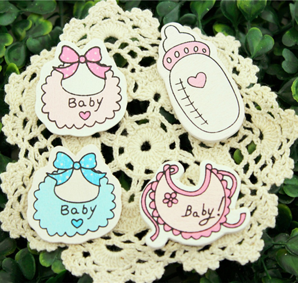 pcs lot babys series wood figure wall sticker return gifts baby shower