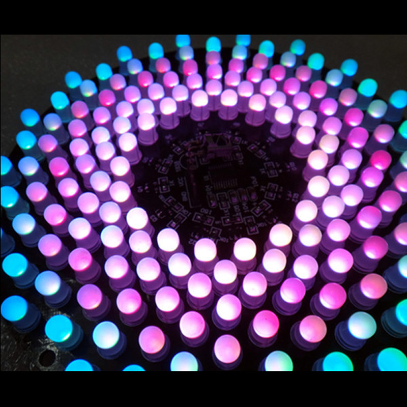Colorful RGB LED Music Spectrum Flashing Kit Creative 9X18 Aurora DIY Kit STM8 MCU Control(China (Mainland))