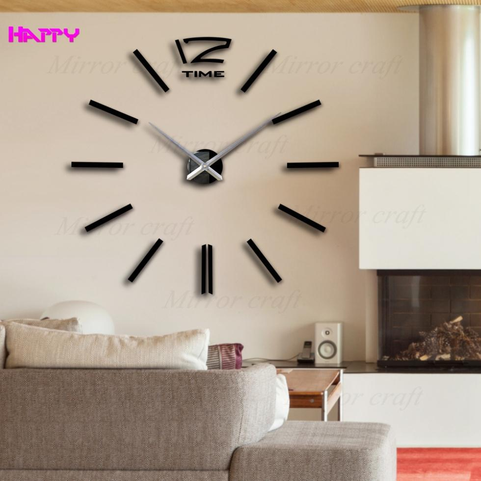 buy wall clock modern design wanduhr wandklok relojes pared self adhesive diy. Black Bedroom Furniture Sets. Home Design Ideas