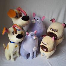 HOT!25-35CM the secret life of pets Plush toys Max Chloe Snowball bulldog Doll Stuffed Soft padding Toy For Children's Day gift(China (Mainland))