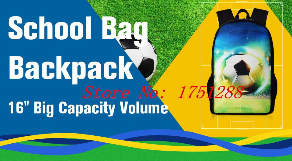 Fashion Cool Brazil Cartoon Messi Mochila Bolsa Neymar Children Shoulder Football Backpack Cristiano Ronaldo Student School Bags
