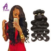 2016 vendita top moda brasiliana vergine dei capelli brasiliani dell'onda del corpo 3 pz vergine rosa capelli prodotti non trasformati umani di estensione weave