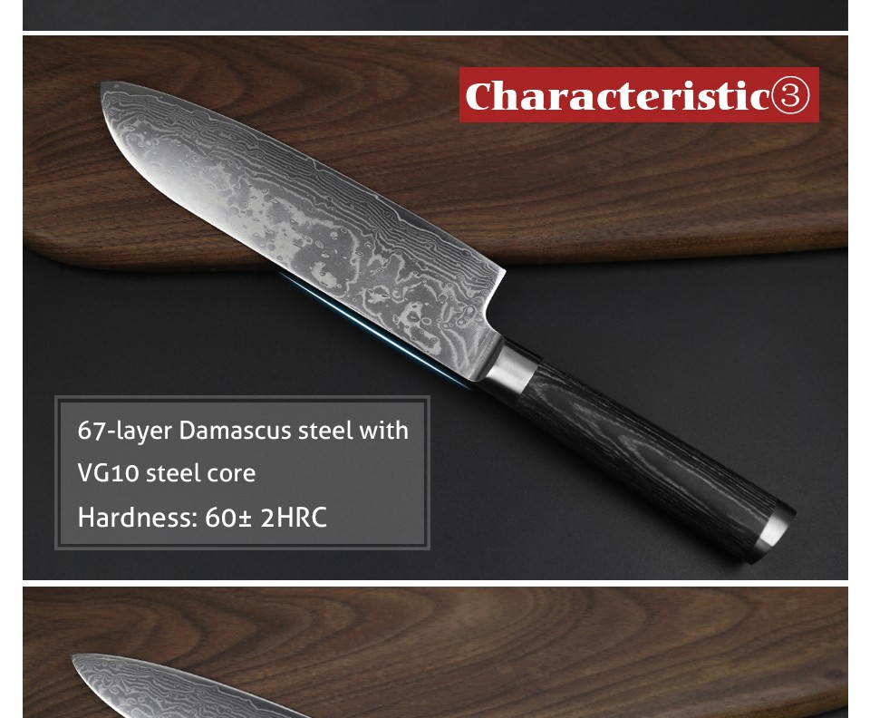 xinzuo 5 pcs chef knife sets 67 layers japanese vg10 damascus steel kitchen knife chef cleaver. Black Bedroom Furniture Sets. Home Design Ideas