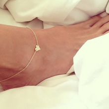 Simple heart sexy women beach foot bracelets jewelry Fashion ankle chain for girl a47
