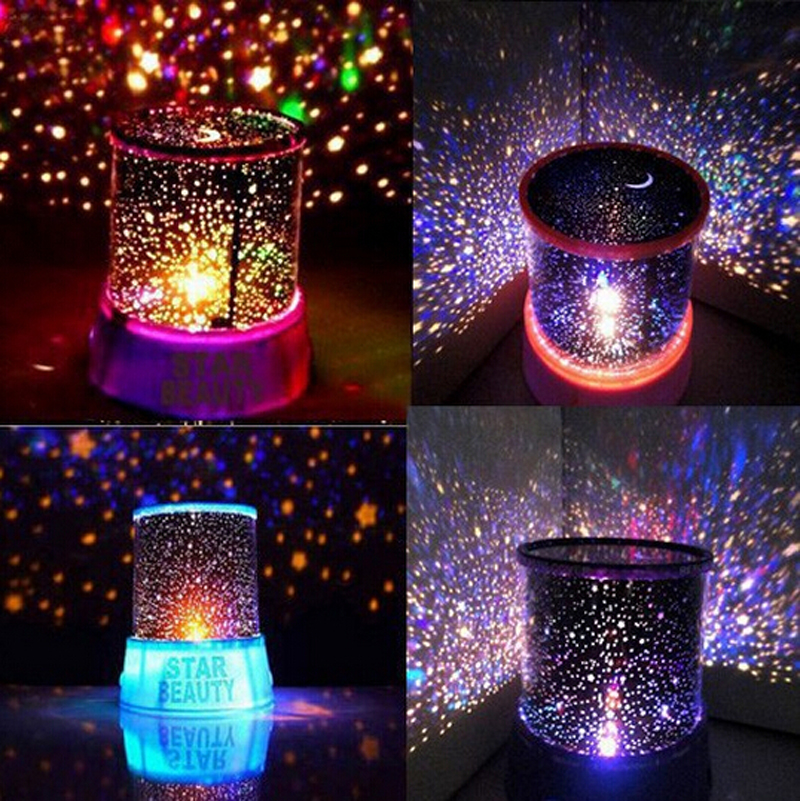 Novelty Led Night Light lamp amazing colorful sky star for home bedroom lamp Cartoon children Kids love Free Shipping(China (Mainland))
