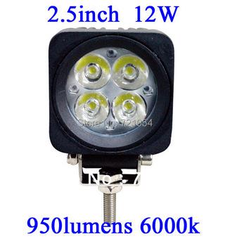 4pc 12W LED Work Light 950 Lumen Offroad Driving Lamp 2.5 inch ATV UTV TRUCK BOAT 10-30V DC FLOOR BEAM led offroad led light