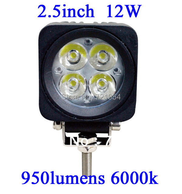 4pc 12W LED Work Light 950 Lumen Offroad Driving Lamp 2.5 inch ATV UTV TRUCK BOAT 10-30V DC FLOOR BEAM led offroad led light