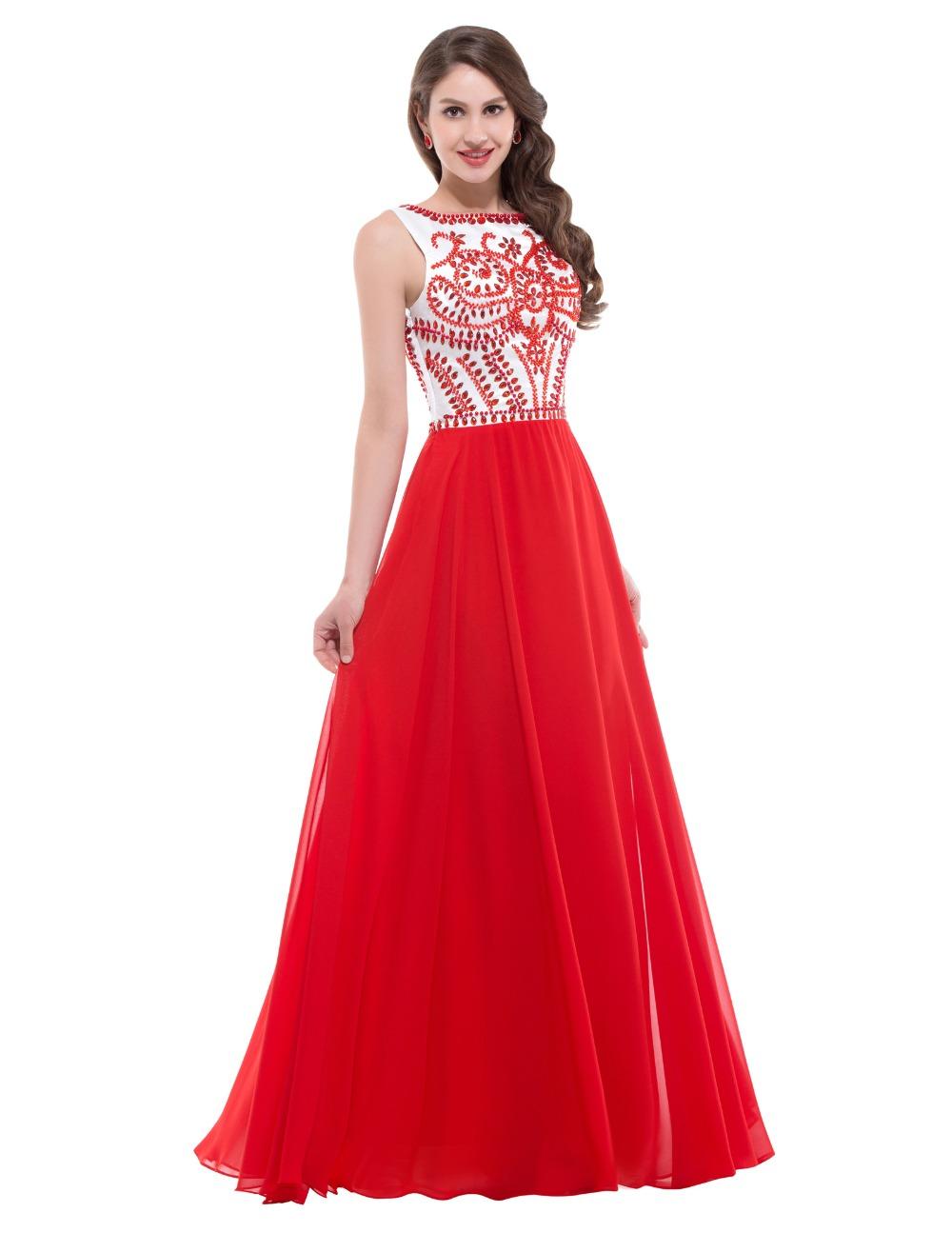 Длинные вечерние красные платья в пол
