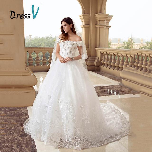 DressV Lace Princess Ball Gown Wedding Dresses Off