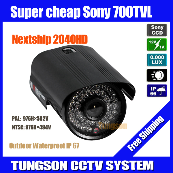 "1/3"" SONY CCD 700TVL Outdoor Waterproof Video Surveillance Cam 36* LED Night Vision Home Black Bullet Security CCTV Camera(China (Mainland))"