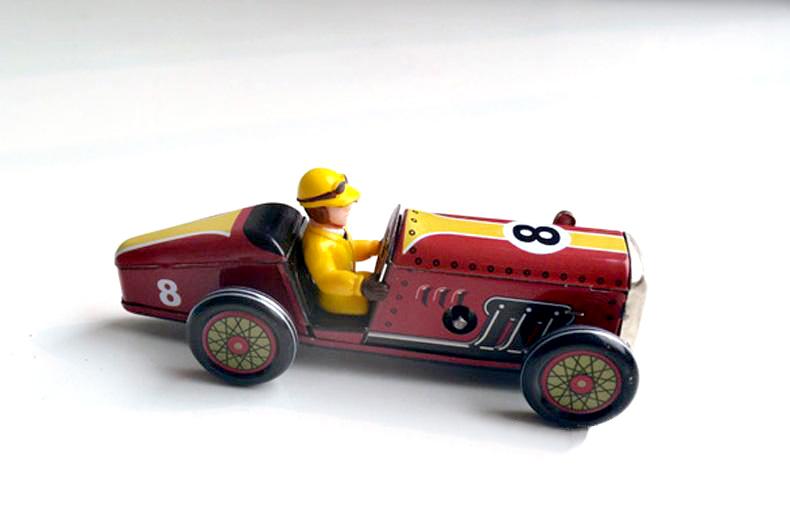 Retro clockwork tin toys rare Clockwork tin Racing Limited Edition has been discontinued Collection(China (Mainland))
