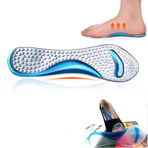 Gel Massage Arch Support 3/4 Insoles Orthotic Flatfoot Prevent Foot Cocoon Painful Women High Heels Shoes Pad Silicone Inserts(China (Mainland))