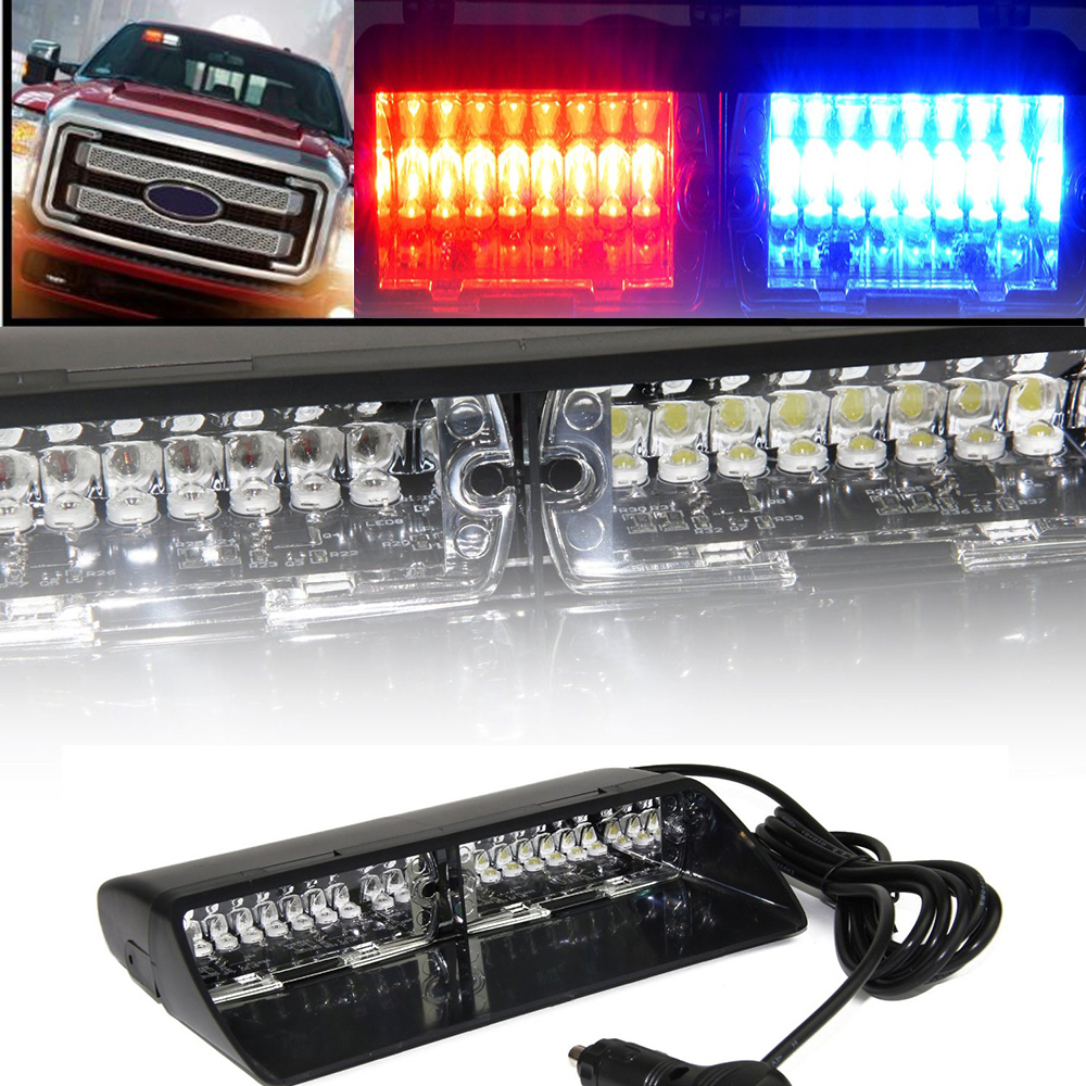 Red Blue 16 LED Strobe Lights High Intensity LED Emergency Hazard Warning ForCar SUV Truck Interior Windshield With Suction Cups(China (Mainland))