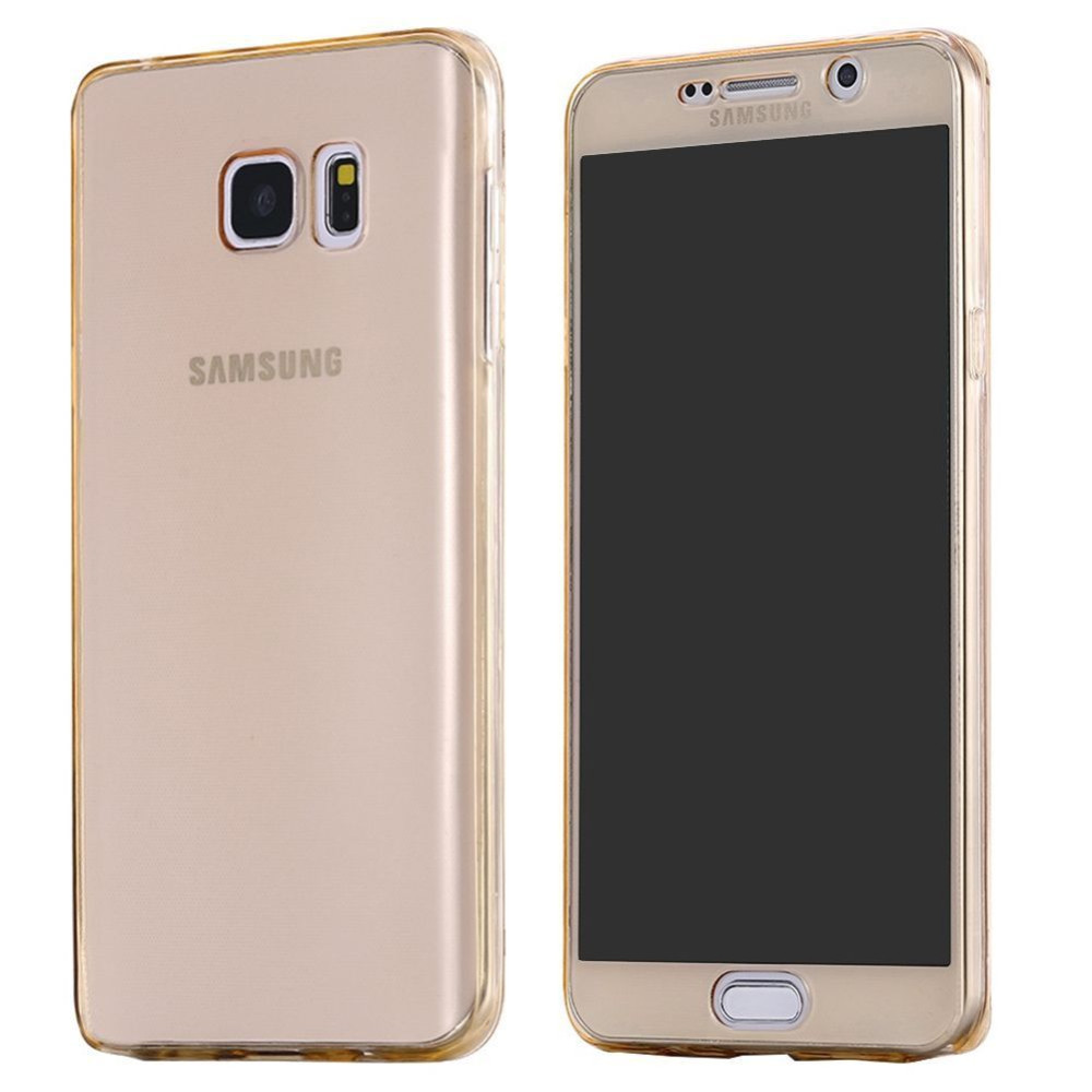 HC19 Full Body Protection case For Samsung Galaxy S7 Edge S6 edge Plus S6edge+ Soft Front Back TPU Clear Cover Phone Accessories