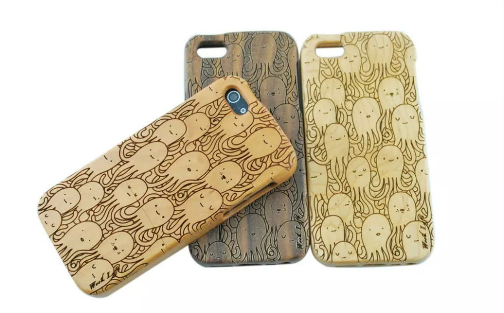 Hot sale for i4 Top quality Natural handmade wooden wood case True bamboo cover For iPhone 4G 4S Shell free shipping(China (Mainland))