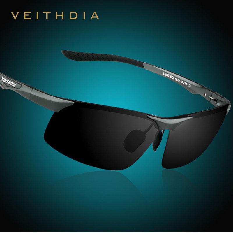 Veithdia Brand Polarized Lens Driver Mirror Sunglasses Male Aluminum Alloy Fishing Men's Eyewear Outdoor Coating Sports Glasses(China (Mainland))